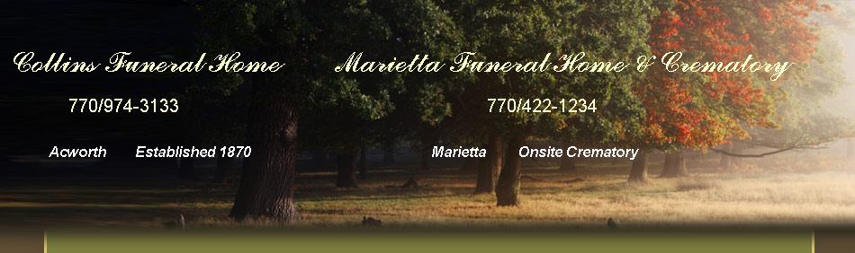 Collins Funeral Home         Marietta Funeral Home & Crematory
